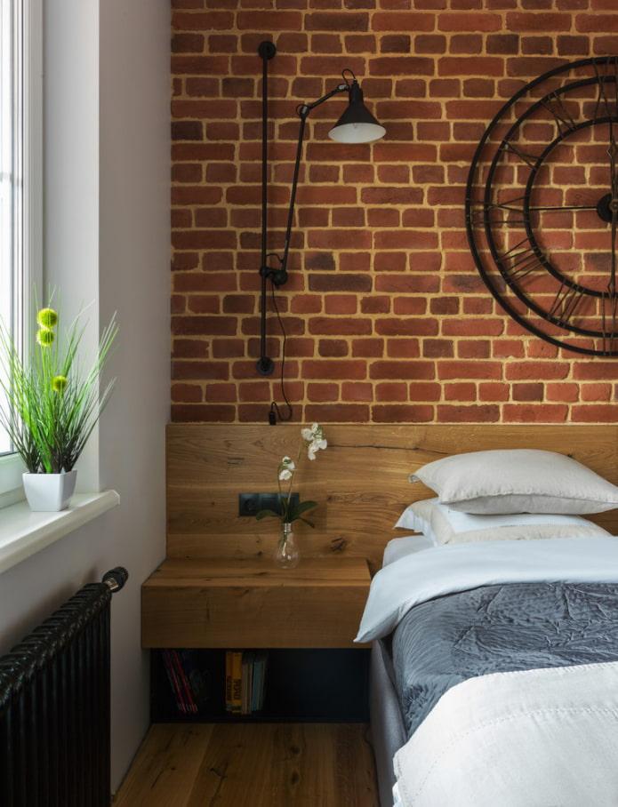 table de chevet de style loft