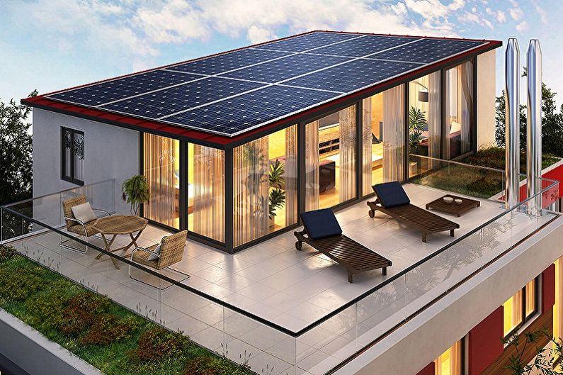 Maisons à toit plat - Aménagement du toit, bonnes idées