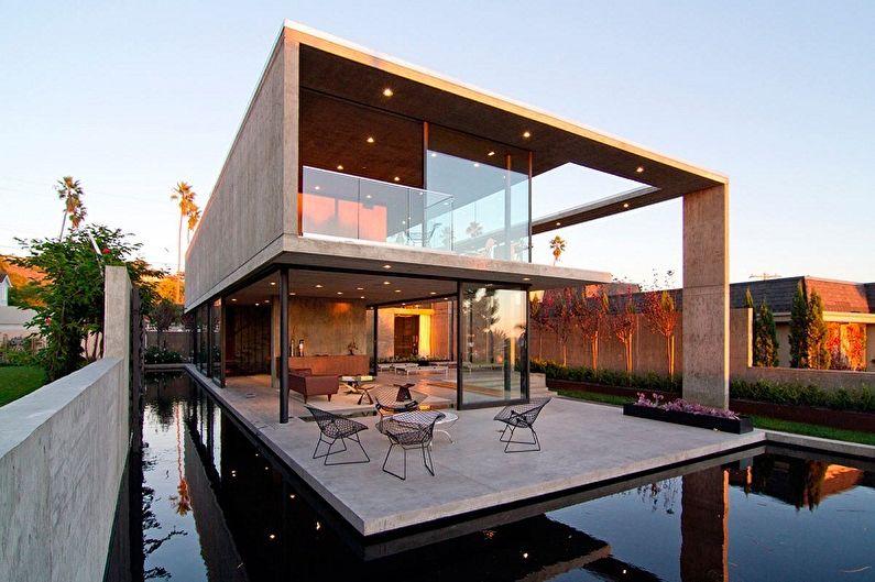 Maisons à toit plat - Caractéristiques