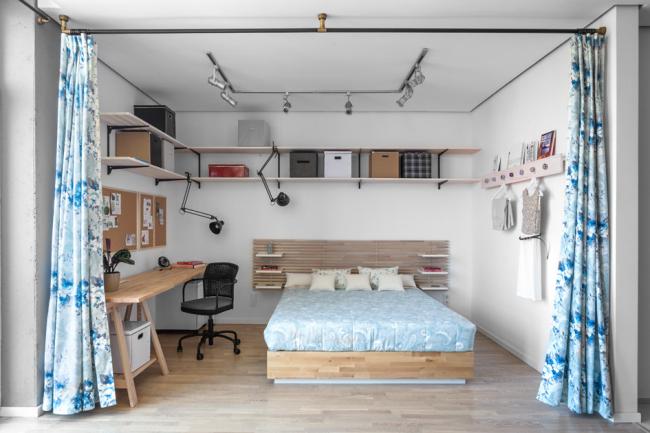 Combinaison parfaite de la chambre et du coin salon