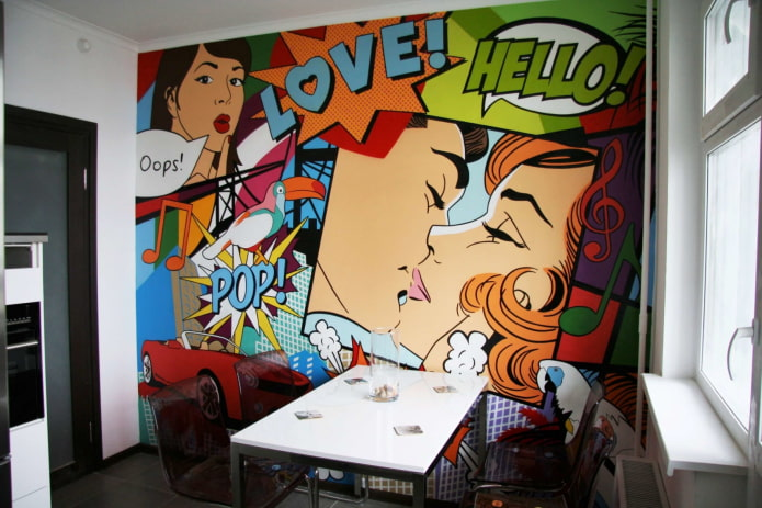 pop art sur le mur