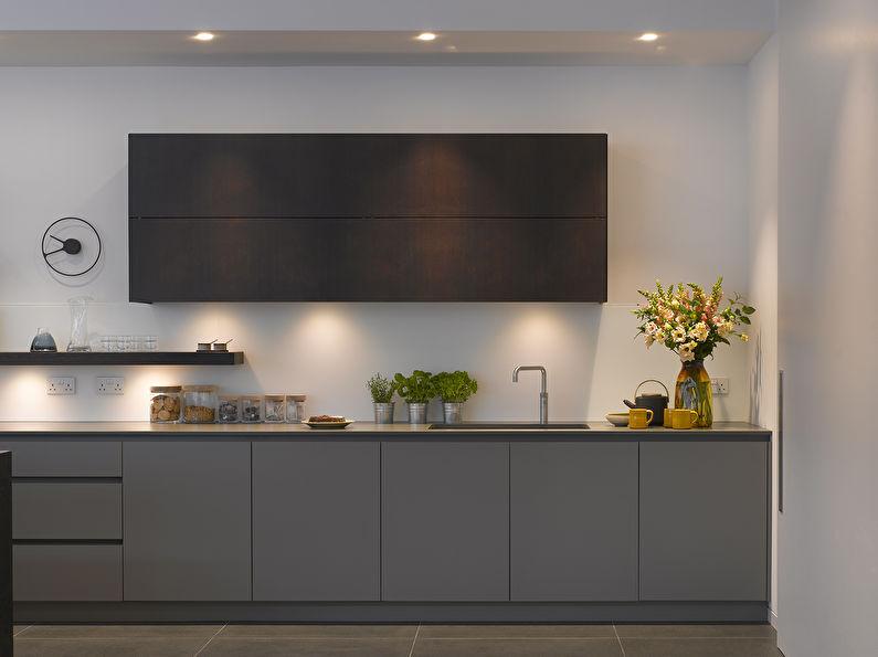 Cuisine grise dans le style du minimalisme - photo