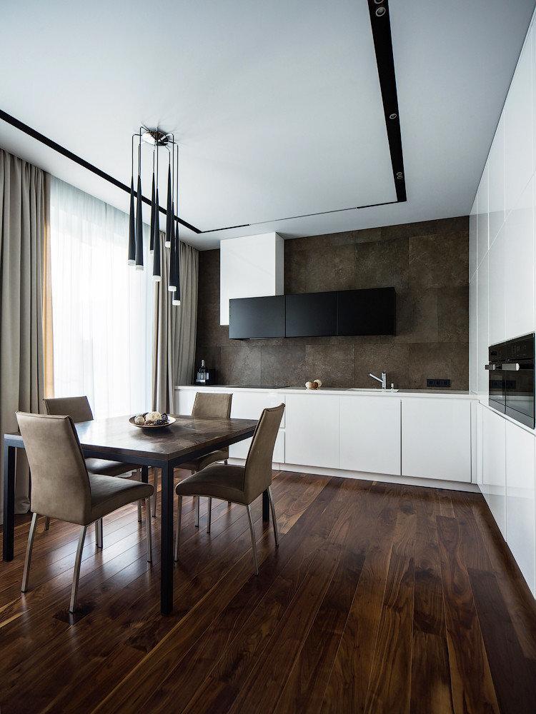 Conception de plafond - cuisine minimaliste