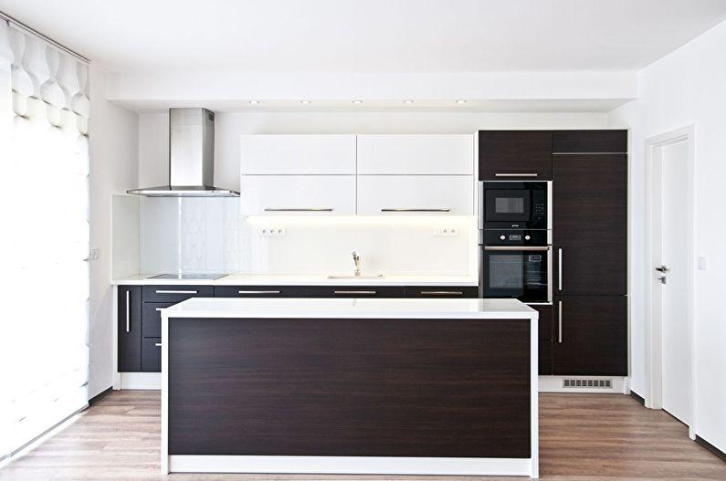 Cuisine marron dans le style du minimalisme - photo