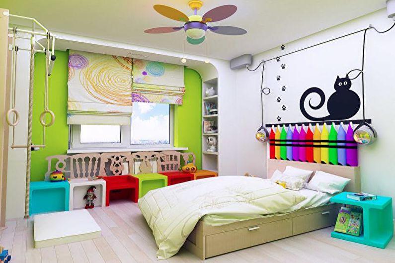Combinaisons de couleurs à l'intérieur de la chambre des enfants - Fond et accents neutres