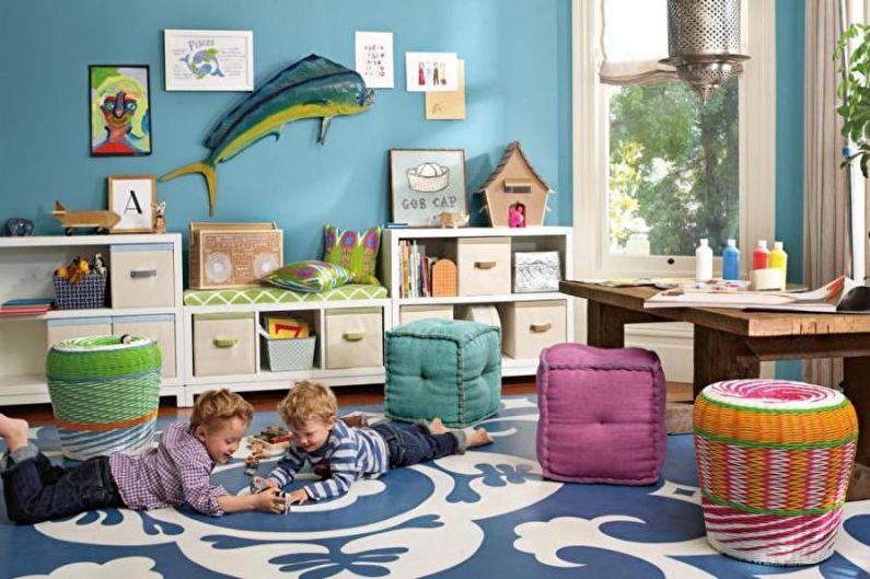 Combinaisons de couleurs à l'intérieur d'une chambre d'enfants - Palette de la photo