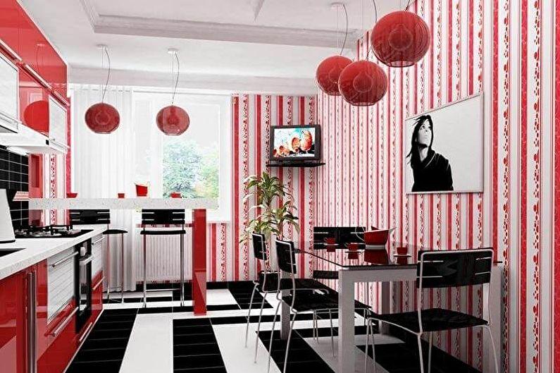 Design de cuisine rouge et noir - Décorations murales