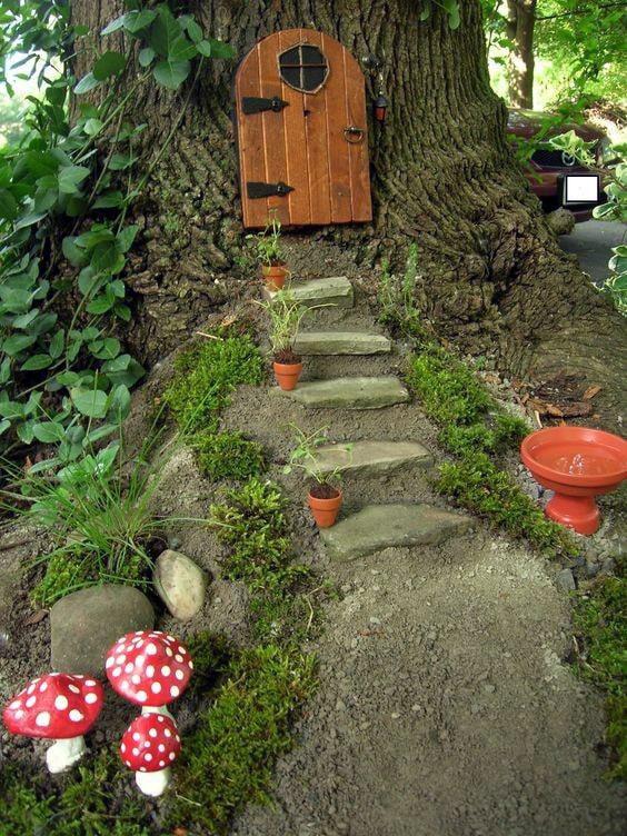 Porche de la maison des fées