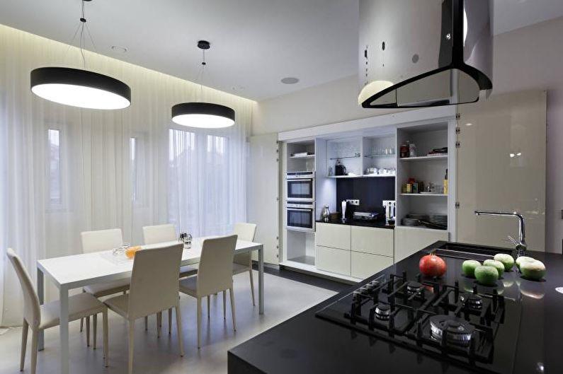 Cuisine moderne noir et blanc - Design d'intérieur