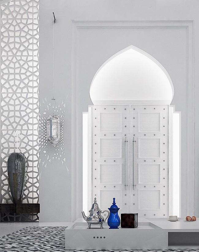 Arche en forme de dôme de style oriental