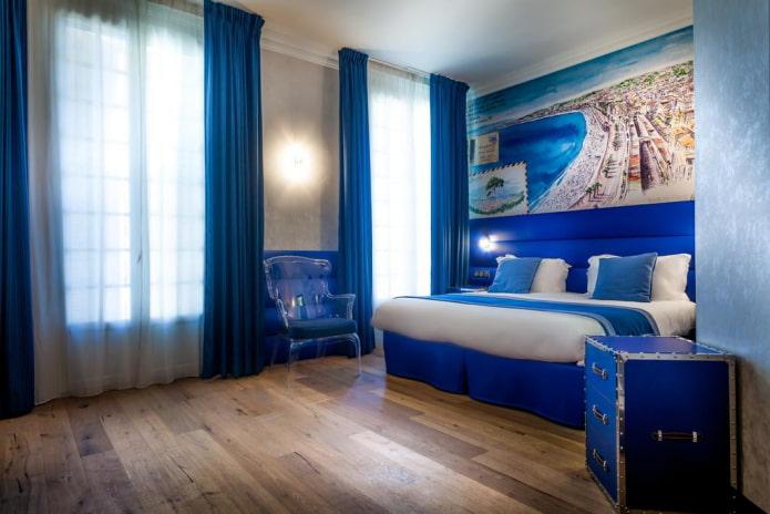 Chambre au décor nautique