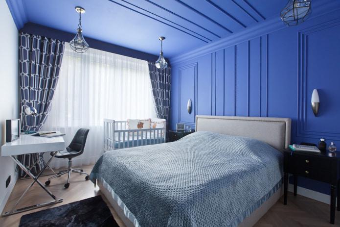 chambre en bleu