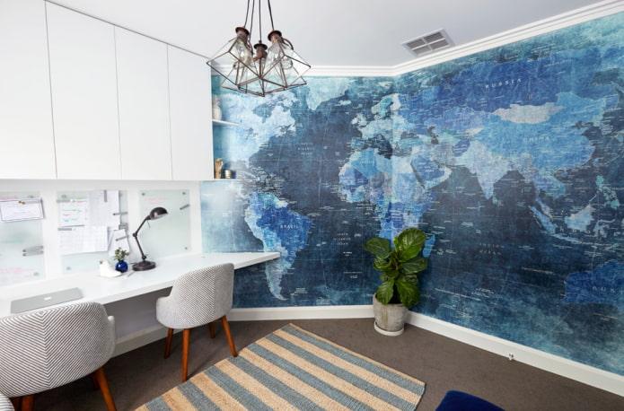 papier peint sur deux murs (coin)
