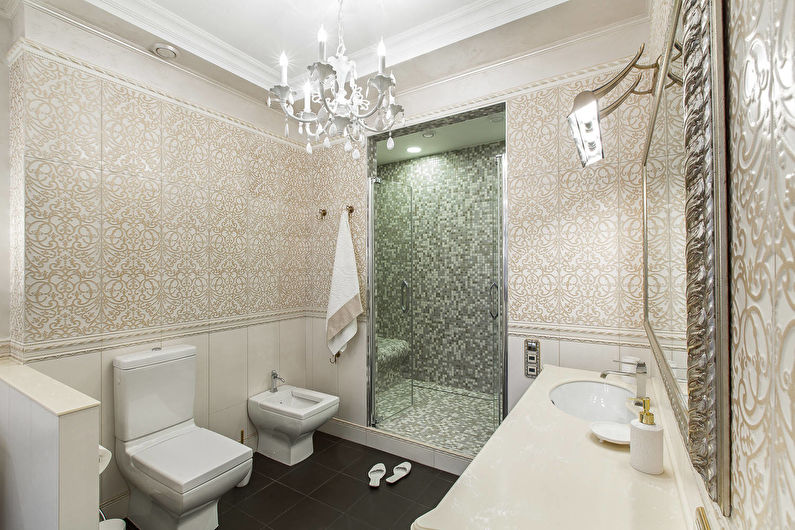 Salle de bain classique beige - Design d'intérieur