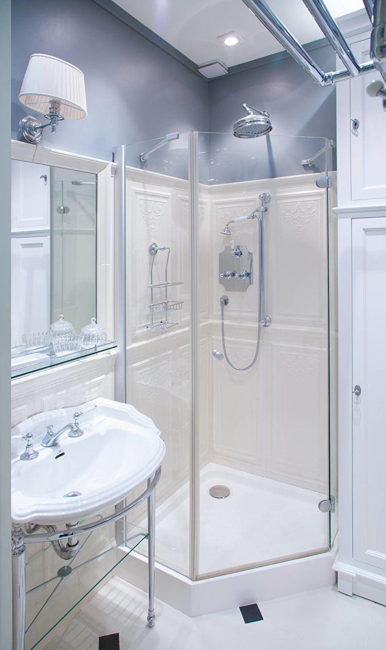 Salle de bain bleue classique - Design d'intérieur