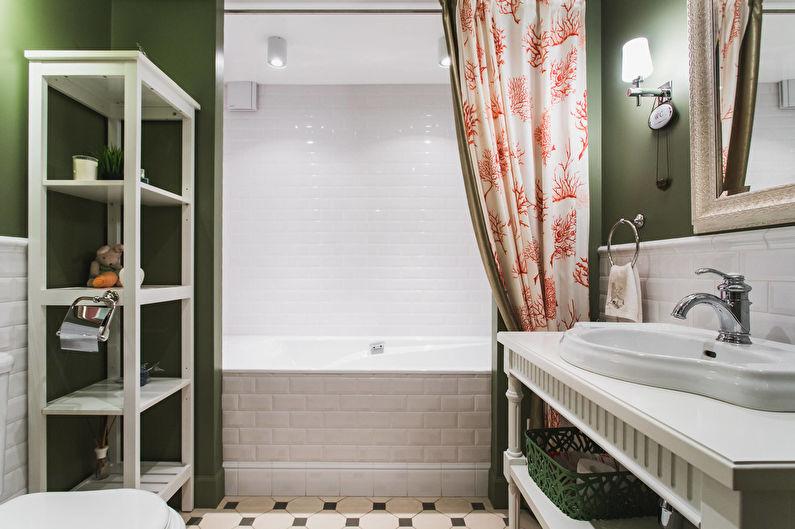 Salle de bain classique aux accents contrastés - Interior Design