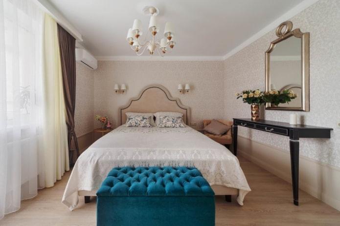 meubles à l'intérieur de la chambre beige