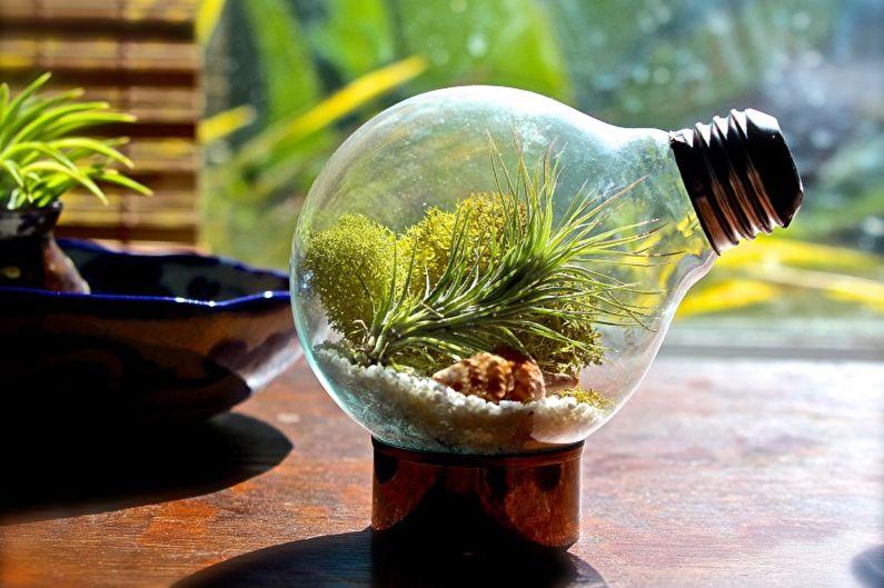 Florarium à faire soi-même - Dans une ampoule