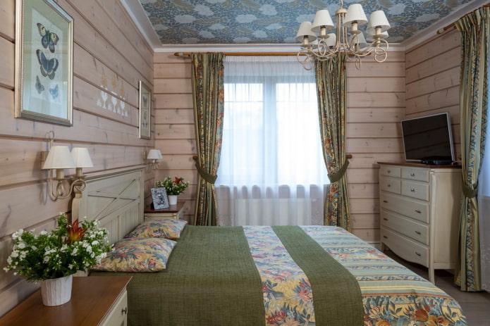 meubler une chambre dans un style campagnard rustique