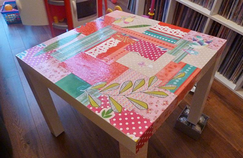 Decoupage - DIY déco de table ancienne
