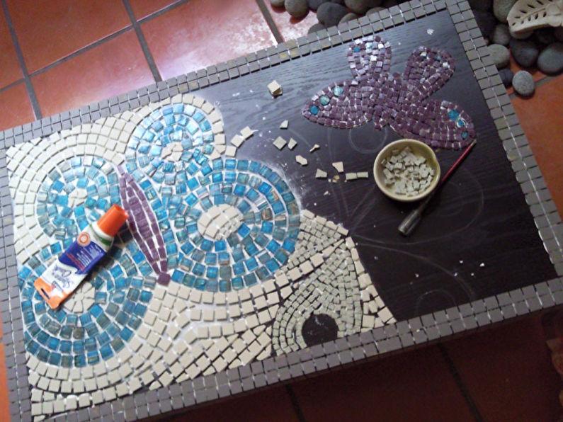 Mosaïque - DIY déco de table ancienne