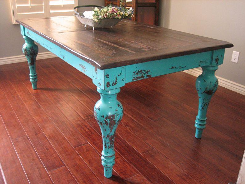 Craquelure - DIY déco de table ancienne