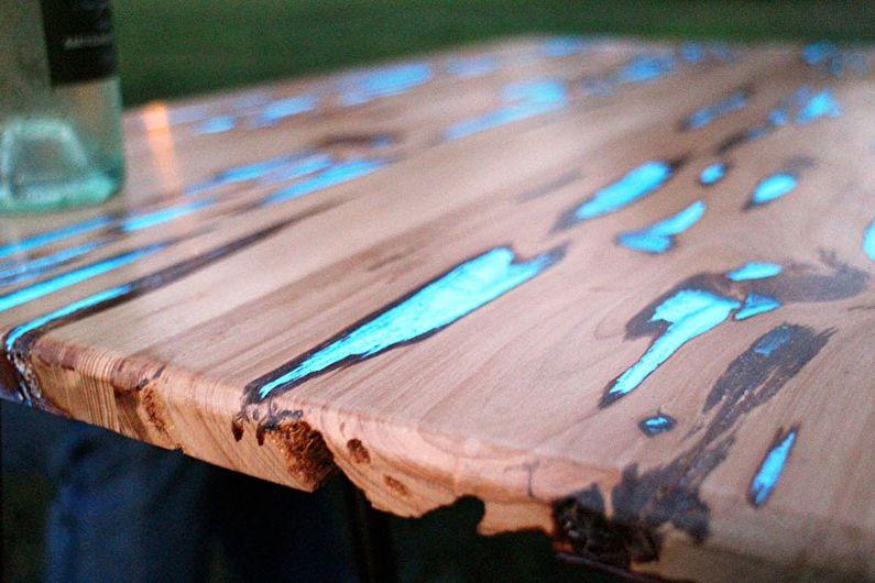 Résine époxy - DIY déco de table ancienne