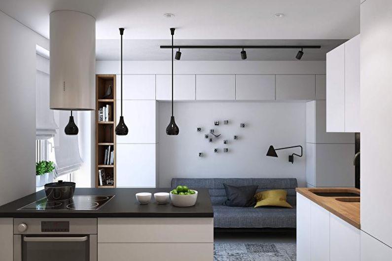 Cuisine 14 m²  dans un style moderne - Design d'intérieur