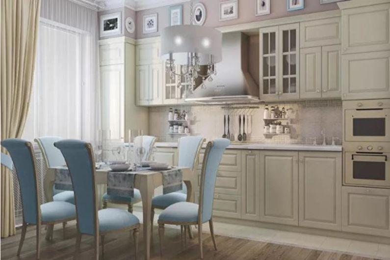Cuisine 14 m²  dans un style classique - Design d'intérieur