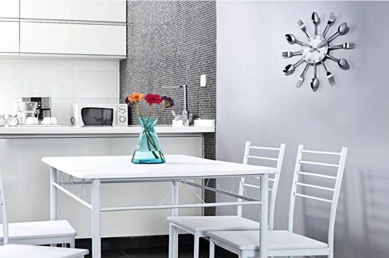 Cuisine 14 m²  dans un style high-tech - Design d'intérieur