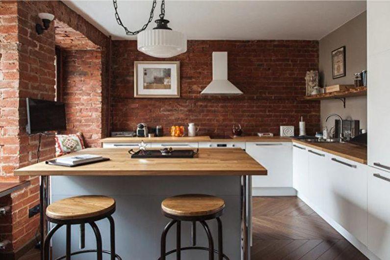 Conception de cuisine 14 m²  - Décoration murale