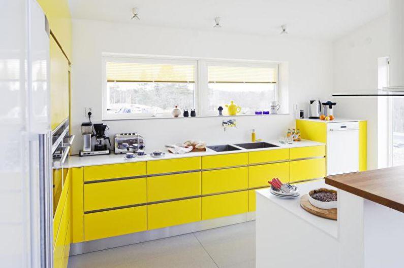 Cuisine jaune 14 m²  - Design d'intérieur