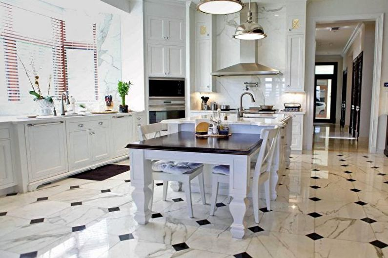 Conception de cuisine 14 m²  - Finition du sol