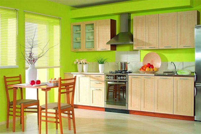 Cuisine marron 14 m²  - Design d'intérieur
