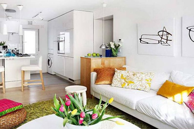 Conception de petit appartement - Couleur