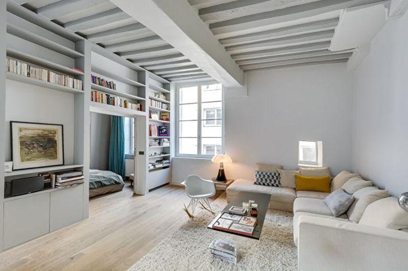 Petit appartement dans le style du minimalisme - Design d'intérieur