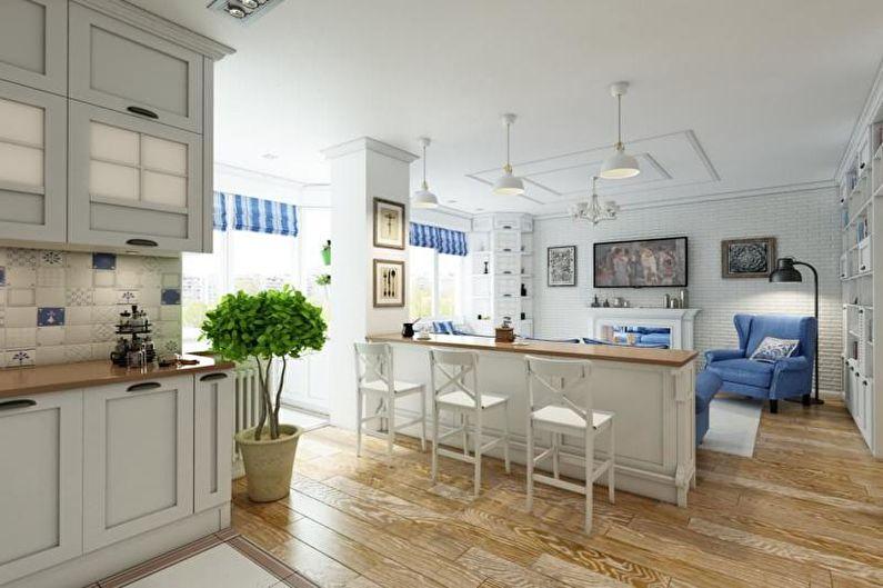 Petit appartement de style provençal - Architecture d'intérieur
