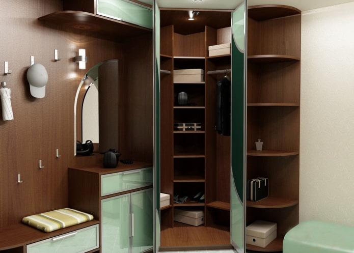 armoire d'angle avec sièges