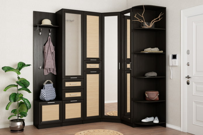 Armoire d'angle sombre