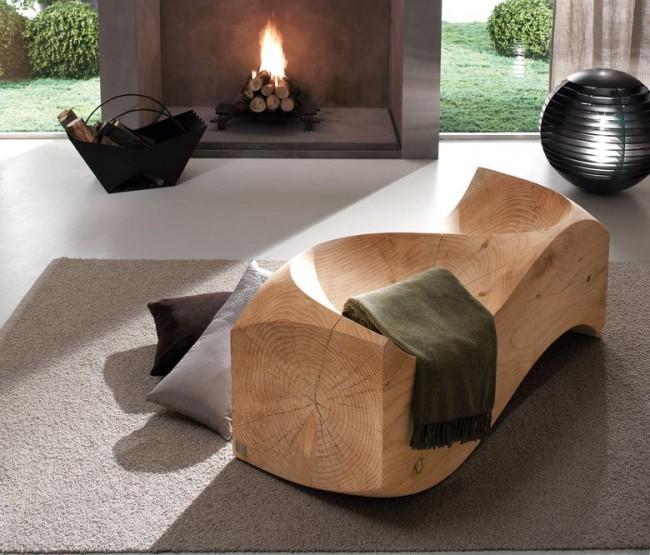 Meubles en bois dans un intérieur moderne