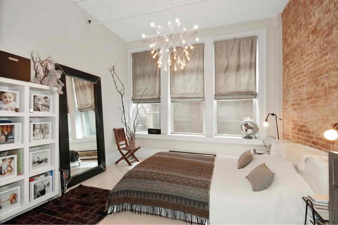 modèle de miroir de sol à l'intérieur de la chambre
