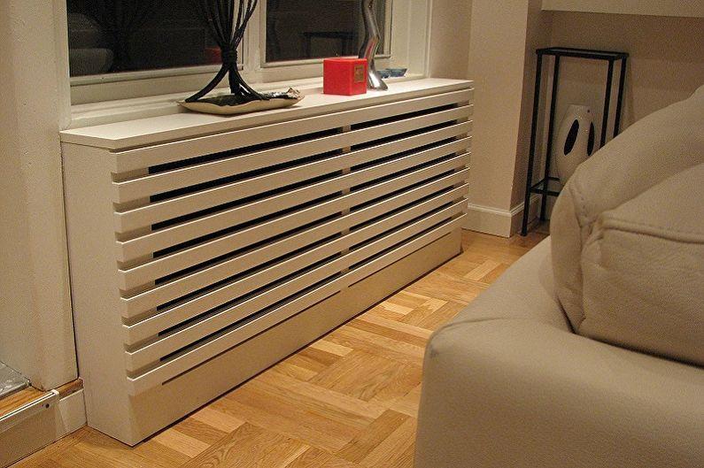 Variétés d'écrans pour radiateurs - Selon les caractéristiques de conception