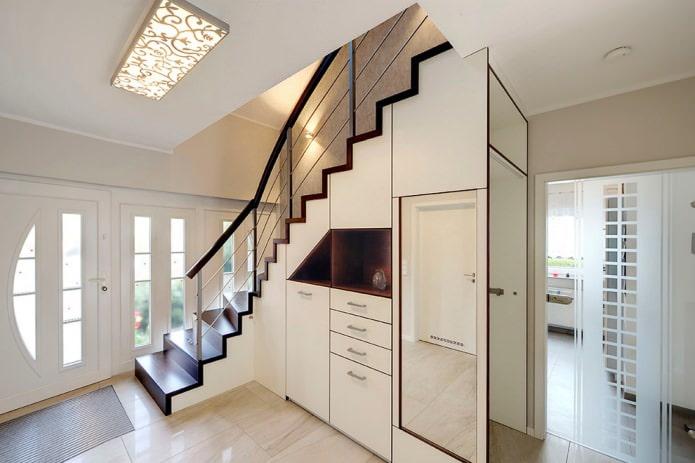 placard sous l'escalier