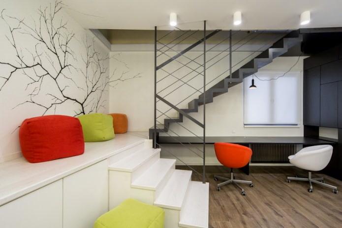 bureau avec deux fauteuils