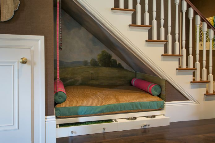 canapé compact avec tiroirs