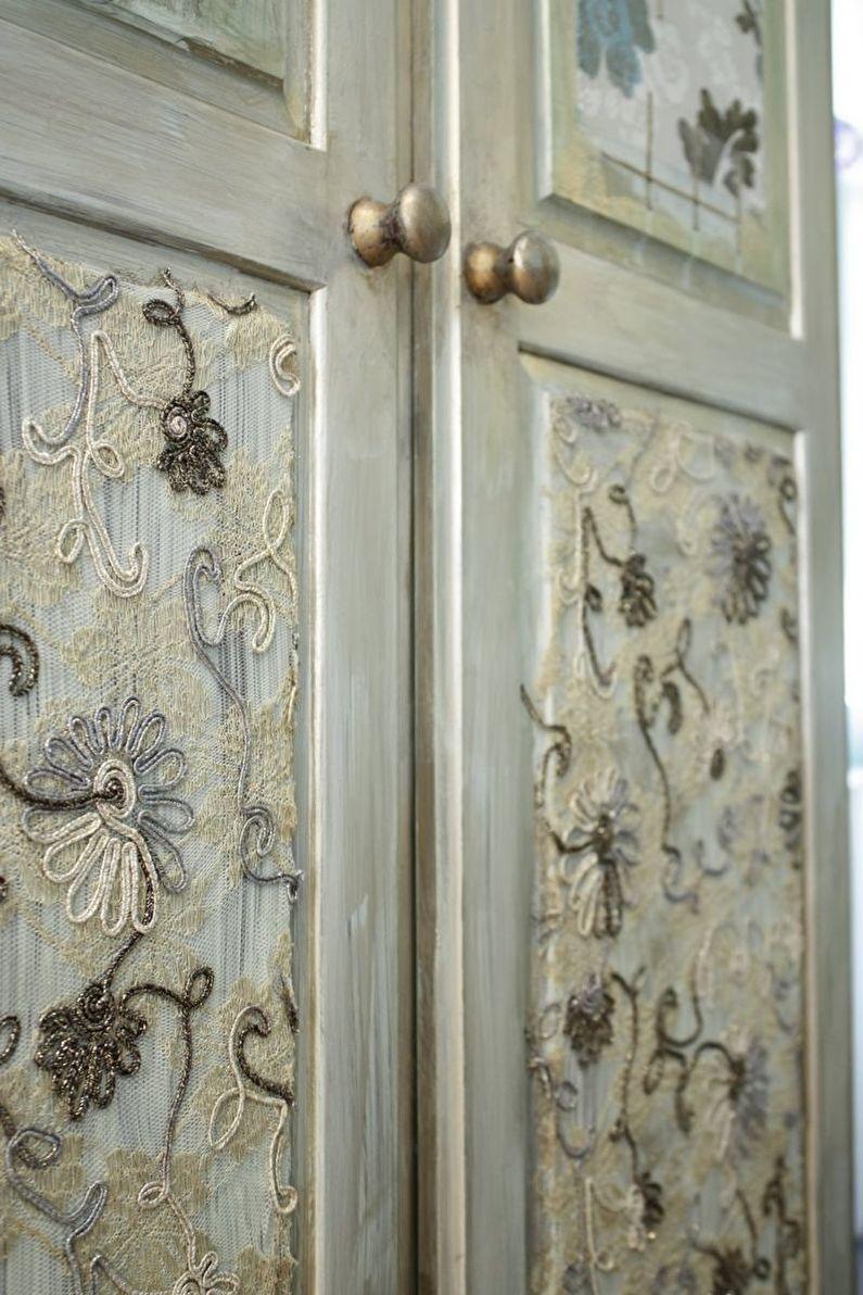 DIY déco de porte ancienne - Tissu