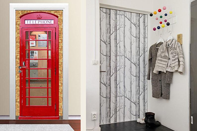 DIY déco de porte ancienne - Papier peint