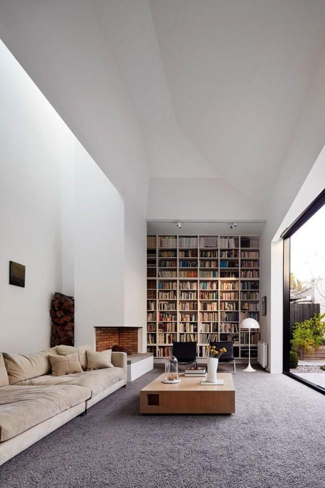 Salon élégant dans une maison privée moderne