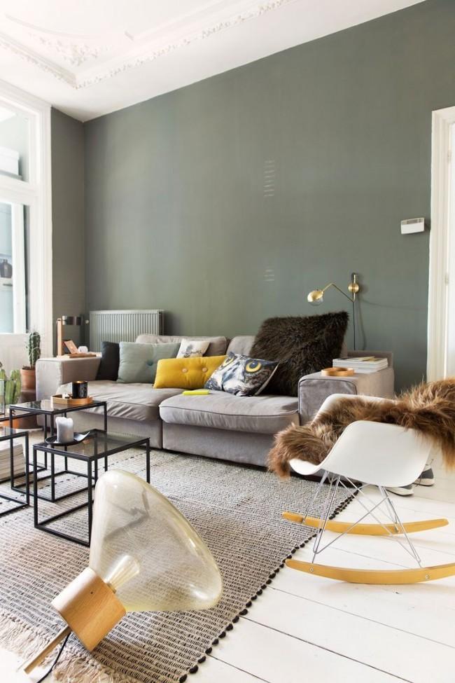 Salon moderne dans une maison privée