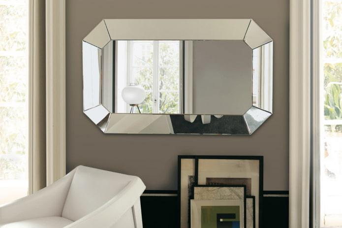 produit miroir avec double facette à l'intérieur